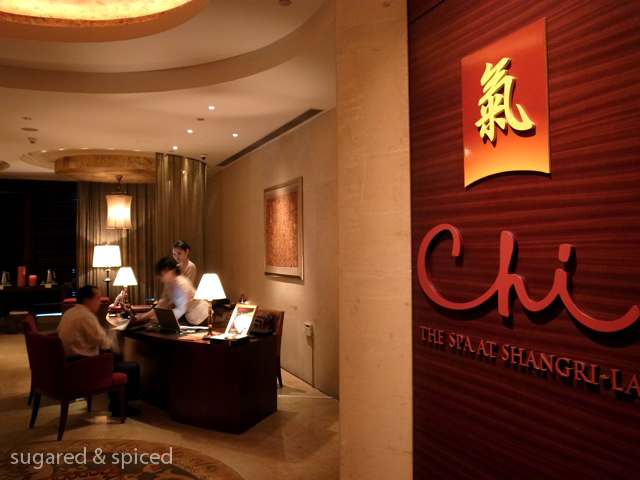 shanghai chi the spa at pudong shangri la sugared spiced. Black Bedroom Furniture Sets. Home Design Ideas