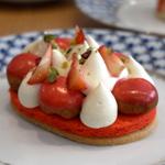 Acide - Saint Honoré à la fraise et thym citron